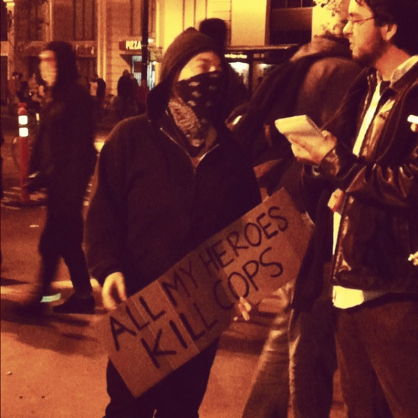 all my heroes kill cops Violence at Occupy Wall Street